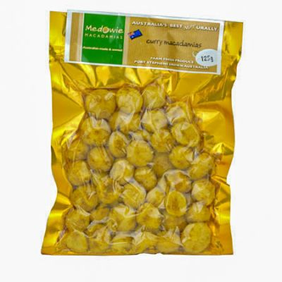 Curry Macadamias 125g
