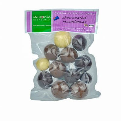 Mixed Chocolate Coated Macadamias 150g