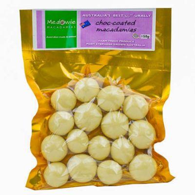 White Chocolate Coated Macadamias 150g