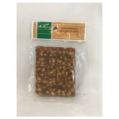 Macadamia ginger brittle